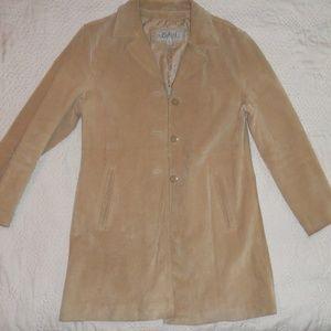 Wilsons Leather Vintage Suede Car Coat Sz L